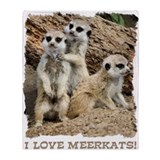 Meerkat Throw Blankets