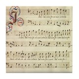 Sheet Music Coaster Tile Coaster