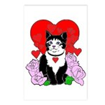 Cheesy Cat Valentine Postcards (Package of 8)
