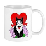 Cheesy Cat Valentine Mug