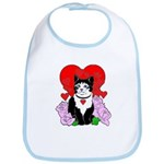 Cheesy Cat Valentine Bib