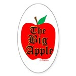 THE BIG APPLE Sticker (Oval 50 pk)