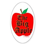 THE BIG APPLE Sticker (Oval 10 pk)