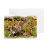Krazy Irish Protect Your Nuts Greeting Cards (Pk o