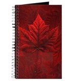 Canada Souvenir Maple Leaf Journal, Notebook