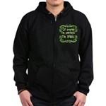Of Course I'm Perfect I'm Irish Zip Hoodie (dark)