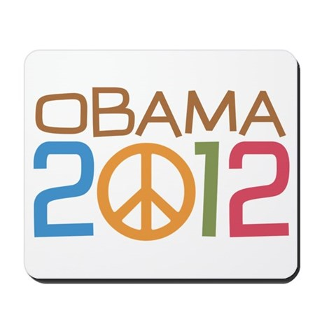Obama 2012 Peace Mousepad