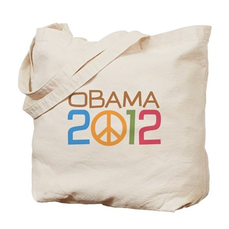 Obama 2012 Peace Tote Bag