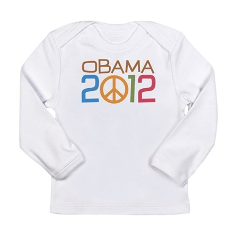 Obama 2012 Peace Long Sleeve Infant T-Shirt