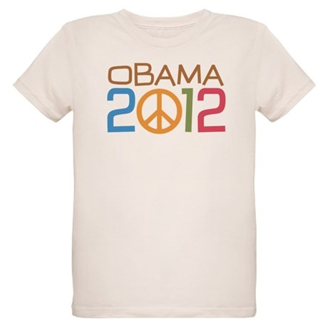 Obama 2012 Peace Organic Kids T-Shirt