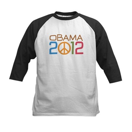 Obama 2012 Peace Kids Baseball Jersey
