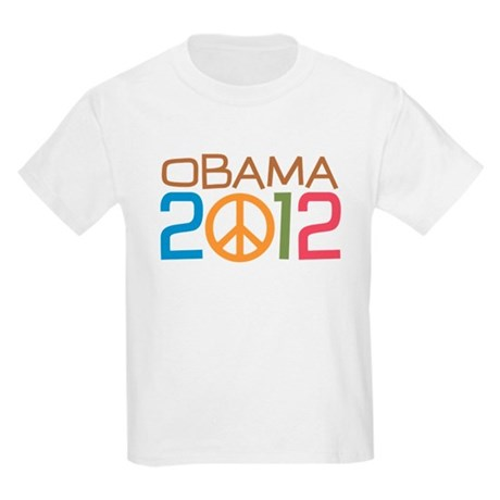 Obama 2012 Peace Kids Light T-Shirt