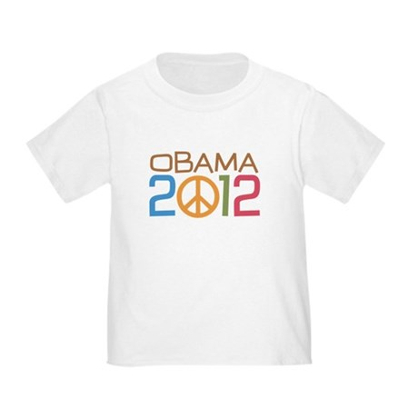 Obama 2012 Peace Toddler T-Shirt