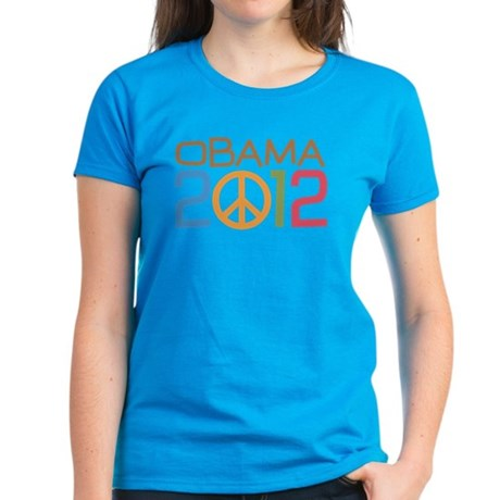 Obama 2012 Peace Women's Dark T-Shirt