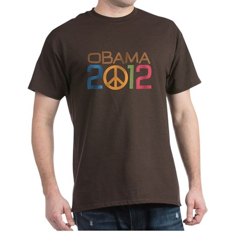 Obama 2012 Peace Dark T-Shirt