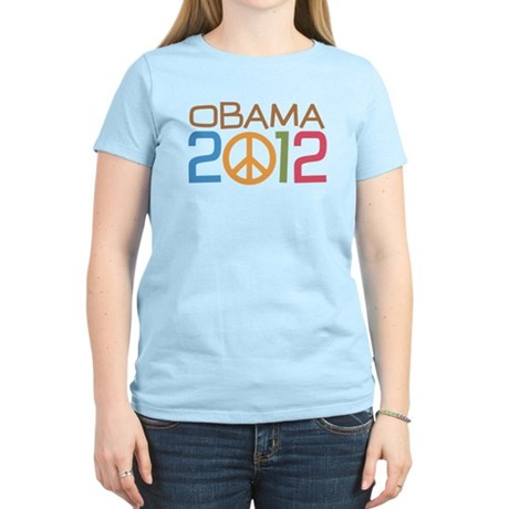 Obama 2012 Peace Women's Light T-Shirt