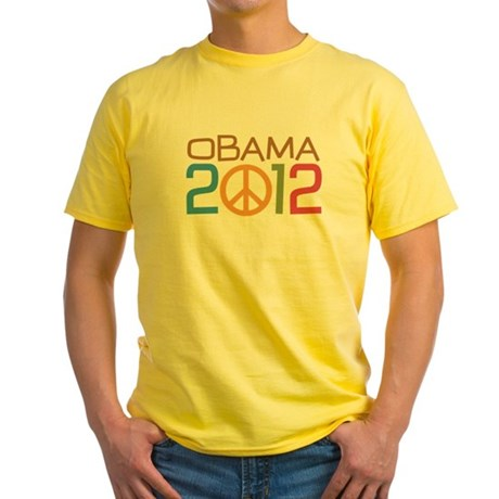 Obama 2012 Peace Yellow T-Shirt