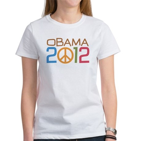 Obama 2012 Peace Women's T-Shirt