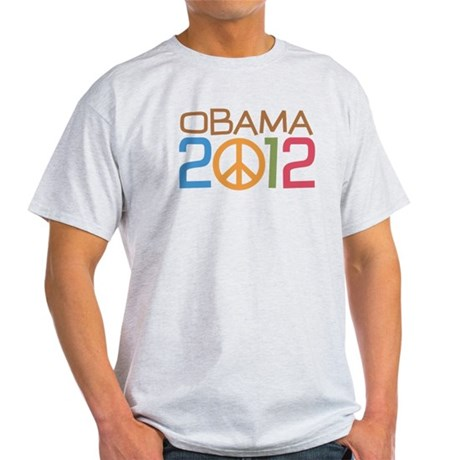 Obama 2012 Peace Light T-Shirt