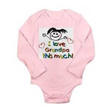 I Love Grandpa (girl) Long Sleeve Infant Bodysuit