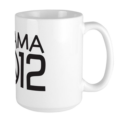Peace Sign Obama Large Mug