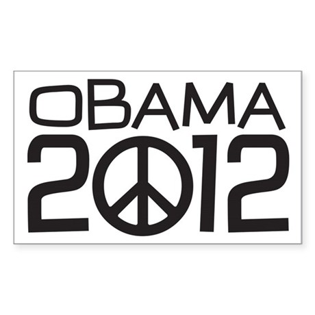 Peace Sign Obama Sticker (Rectangle)