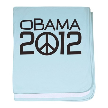 Peace Sign Obama baby blanket