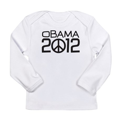 Peace Sign Obama Long Sleeve Infant T-Shirt