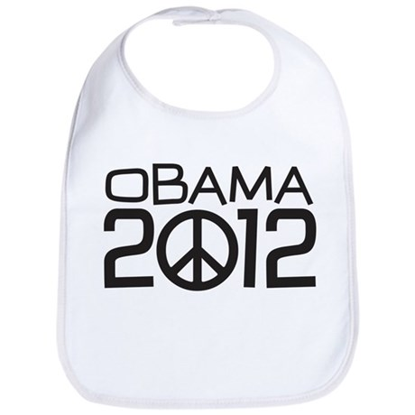 Peace Sign Obama Bib