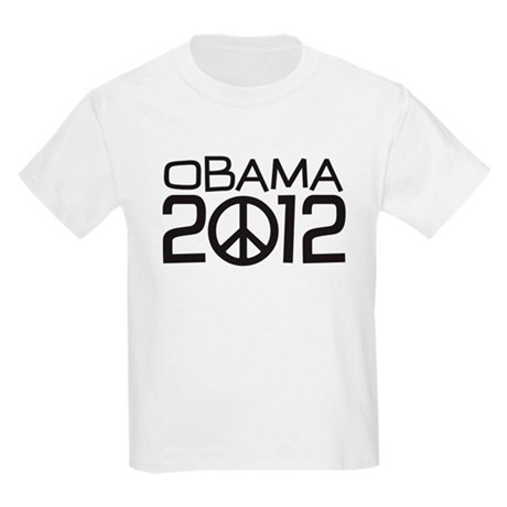 Peace Sign Obama Kids Light T-Shirt