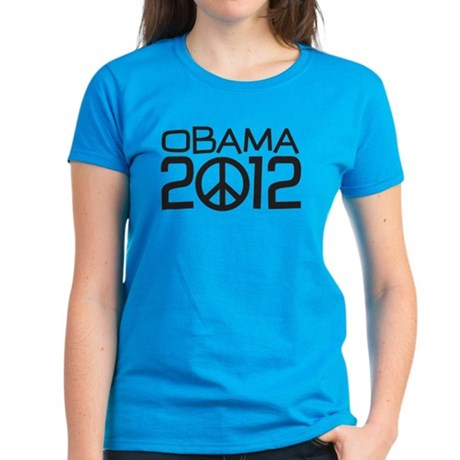 Peace Sign Obama Women's Dark T-Shirt
