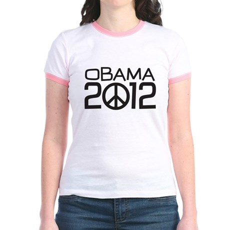 Peace Sign Obama Jr. Ringer T-Shirt