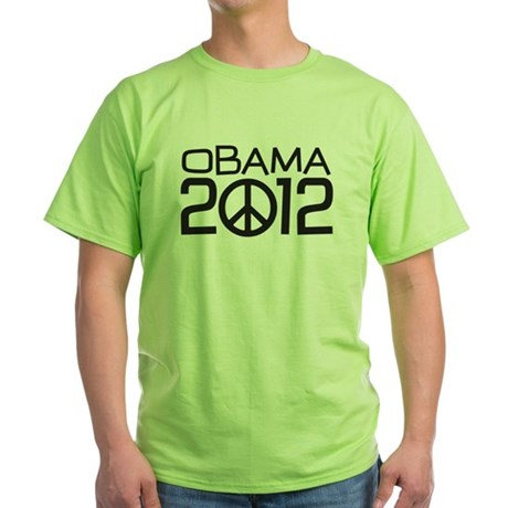 Peace Sign Obama Green T-Shirt