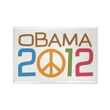 Obama 2012 Peace Rectangle Magnet