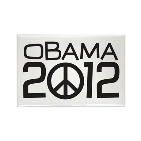 Peace Sign Obama Rectangle Magnet
