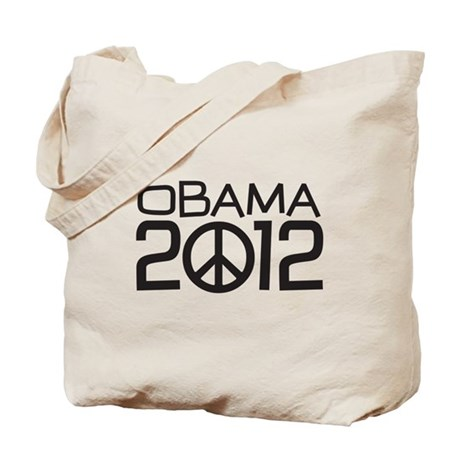Peace Sign Obama Tote Bag
