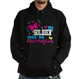 My Soldier Gives Me Butterflies Hoodie