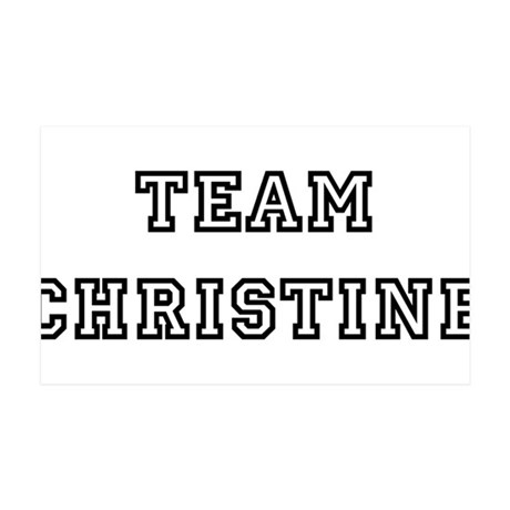 TEAM CHRISTINE 38.5 x 24.5 Wall Peel