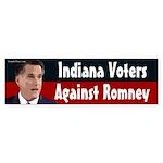 Indiana Against Romney bumper sticker