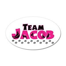 Team Jacob pink & black 38.5 x 24.5 Oval Wall Peel