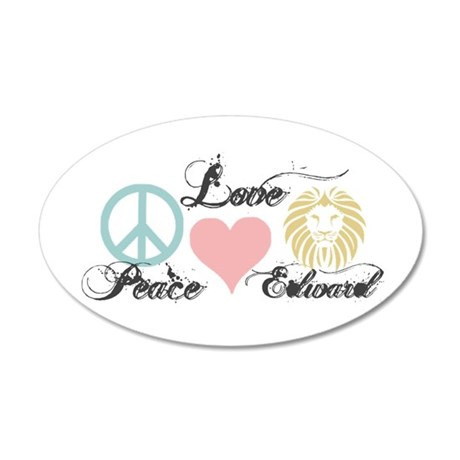 Peace love Edward Cullen 22x14 Oval Wall Peel