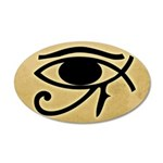 Eye of Horus / Ichthys 22x14 Oval Wall Peel