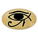 Eye of Horus / Ichthys Oval Bumper Sticker