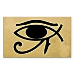 Eye of Horus / Ichthys Fish Bumper Sticker