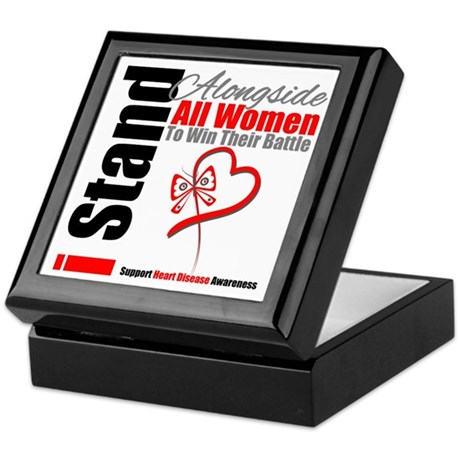 Heart Disease All Women Keepsake Box
