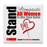 Heart Disease All Women Tile Coaster