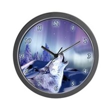 Winter Wolf Wall Clock