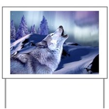 Winter Wolf Yard Sign
