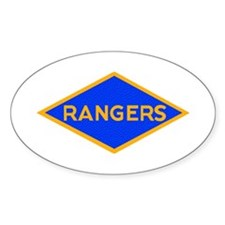 Ranger Diamond WWII Oval Decal