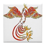 Cool Phoenix and dragon Tile Coaster
